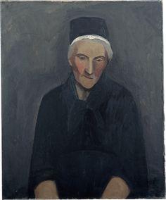 William Scott, Breton Woman, 1946, Oil on canvas, 61.1 × 50.3 cm / 24 × 19¾ in, Arts Council Collection, Southbank Centre, London
