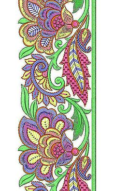 Now you can enjoy our Premium Range Embroidery Designs of Lace Embroidery Designs For Sale, Border Embroidery Designs, Embroidery Suits Design, Hand Embroidery Stitches, Lace Embroidery, Embroidery Patterns, Quilting Templates, Vine Design, Indian Patterns