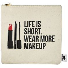 On my wish list!! SEPHORA COLLECTION - Breakups To Makeup Bag  in I Would Cry, But My Mascara is Designer #sephora