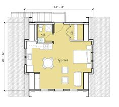 Studio Apartment Garage designing garage studio apartment layout - houzz | bungalow