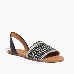 The Abbi Slingback Sandal in Link Stripe : sandals   Madewell