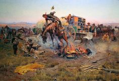 'Camp Cook's Troubles' by Charles M. Russell