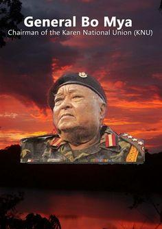 General Bo Mya Chairman of the Karen National Union (KNU)