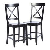 Found it at Wayfair - Crossback Bar Stool (Set of 2)