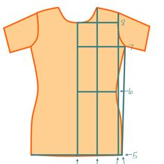 How to draft a basic tee-shirt pattern based on your own measurements.