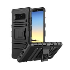 MoKo Samsung Galaxy Note 8 Case, Shock Absorbing Hard Cover Ultra Protective Heavy Duty Case with Holster Belt Clip + Built-in Kickstand for Samsung Galaxy Note 8 - Black Samsung Galaxy Phones, Samsung Galaxy Note 8, Galaxy S8, Corgi Retriever, Dog Phone, Phone Case, Cute French Bulldog, Protective Cases, Full Body