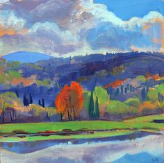 Susan Abbott - Maple Tree and Mountains