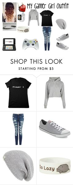 """""""My Gamer Girl Outfit"""" by mimi-minecrafter ❤ liked on Polyvore featuring Current/Elliott, Converse, UGG Australia, Minecraft, Pusheen, Samsung, Nintendo, pretty, Nerdy and gamer"""