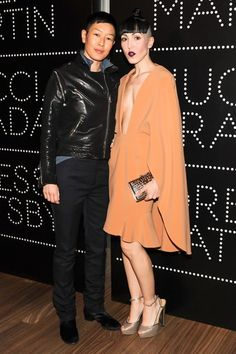 Jenny Shimizu and Michelle Harper at the Catherine Martin and Miuccia Prada Dress Gatsby opening cocktail party in New York