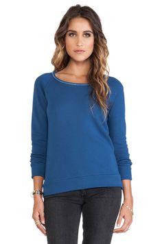VELVET By Graham & Spencer Basata Vintage Fleece Pullover Sweater Top Blue S $99 #VelvetbyGrahamSpencer #Vintage #Casual