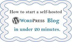 How to Start a Self-Hosted Wordpress Blog | http://morefromyourblog.com