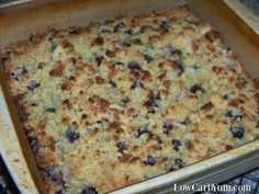 Easy Low Carb Blueberry Cobbler - Gluten Free | Low Carb Yum