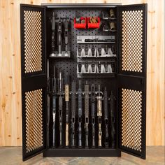 Weapon Storage Cabinet X This Is Perfect To A Lot Of Gun And Gear In One Spot Set Up Holds 14 S 12 Handguns Vertical