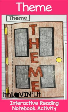 Theme Foldable, Theme Interactive Notebook Activity by Lovin' Lit from the ALL NEW Interactive Reading Literature Notebooks, Part 2