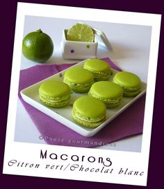 1-Macarons ganache montée citron vert (30) Ganache Macaron, Dessert Aux Fruits, Desserts Fruits, Meringue Pavlova, Gateaux Cake, Macarons, Biscotti, Mousse, Food And Drink