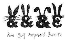 Sans Serif Ampersand Bunnies wish you a Happy Easter!