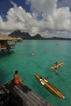 Paddle board in #tahiti & Her Islands #SUP... #Paddleboard in Paradise!