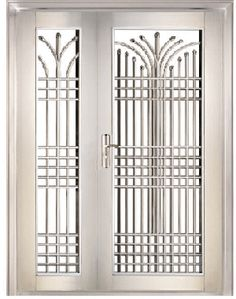 images of glass door entrance with modern steel burglar barring - Google Search