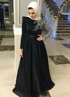 Hijab, hijab fashion, hijab dress's Pin: Gehad Saber Hijab Prom Dress, Hijab Evening Dress, Hijab Style Dress, Hijab Wedding Dresses, Backless Prom Dresses, Casual Hijab Outfit, Evening Dresses, Bridesmaid Dresses, Formal Dresses