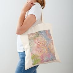 'Lavender Iris Flowers in the Garden, Being Still and Silent Lets in the Wisdom - Inspirational Quotes' Tote Bag by Sarah Rajkotwala Best Tote Bags, Cute Tote Bags, Shabby Flowers, Iris Flowers, Cotton Tote Bags, Reusable Tote Bags, Printed Tote Bags, Paint Designs, Little Gifts