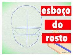 Como aprender a desenhar mangá-Esboço Do Rosto
