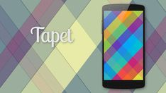 Tapet, means wallpaper in Latin, which enables users to generate unique geometric wallpapers randomly based on mathematical algorithms with an original Material Design Style. Hd Wallpaper Android, Wallpapers, Geometric Wallpaper, Best Apps, Material Design, New Day, Color Mixing, Blessed, Names