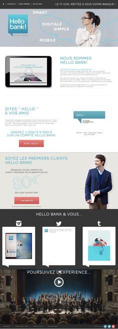 HELLO BANK! Mobile comme vous :: BNP Paribas lance HELLO BANK!, la première banque mobile européenne 100% digitale :: #innovation #Hellobank