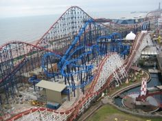 Blackpool Pleasure Beach! The Pepsi Max roller coaster.....rode this when it was the tallest coaster in the world....helped me get over my height fears