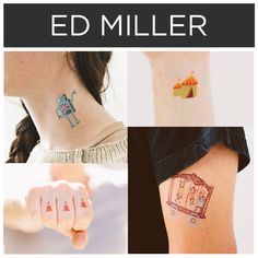 Cute cartoon graphics by Ed Miller. | 15 Incredible Artists Who Will Change Your Mind About Temporary Tattoos