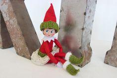 Elf on the Shelf Knitted Fashion and Free Patterns by Studio Knit - #ElfShelfFashion