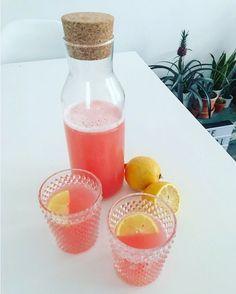 Rabarber citroen limonade
