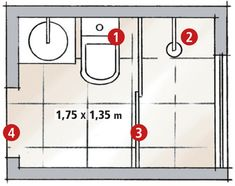 Reforma fez o banheiro minúsculo parecer maior | CASA.COM.BR Small Bathroom Plans, Small Attic Bathroom, Small Bathroom Layout, Laundry In Bathroom, Small Appartment, Mini Bad, Small Attics, Downstairs Loo, Small Showers