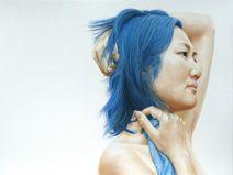 Portrait pastel sec - Portrait soft pastel - David Wells Artist - Blue. Portraits Pastel, David Wells, Photoshop Cs5, Great Photographers, Australian Artists, Photo Canvas, Woman Painting, Drawing People, Portrait Art