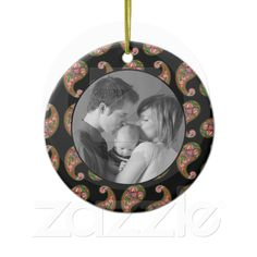 purchased at Zazzle  Paisley Christmas Ornament !5.85