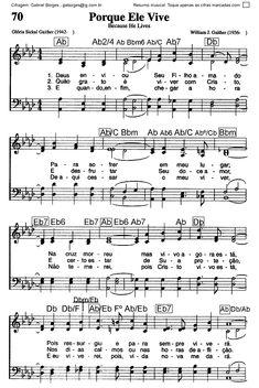 Hinário Adventista do Sétimo Dia - Nr. 070                                                                                                                                                                                 Mais Piano Sheet Music, Gospel Music, Ukulele, Musicals, Mindfulness, Pasta, Nike, Easy Piano Sheet Music, Free Sheet Music