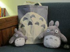 Studio Ghibli Totoro Inspired Canvas Tote Bag by sneakycoon, $15.00
