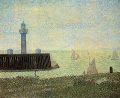 Fin de la jetée, Honfleur - (Georges Pierre Seurat)