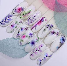 Make an original manicure for Valentine's Day - My Nails Heart Nail Art, Heart Nails, Fun Nails, Pretty Nails, Water Color Nails, City Nails, Christmas Manicure, Manicure E Pedicure, Nail Decorations