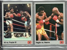 VINTAGE ALL WORLD BOXING CARDS COMP 149 SET + ALI BOOK, MARCIANO, FOREMAN #BOXING