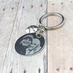 Custom Engraved Photo Round Keychain