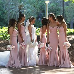 V Neck Backless Wedding Dresses, Lace Chiffon A Line Wedding Gowns, White Bridal Dresses, Elegant Wedding Party Dresses sold by Everbeauties Prom Dress on Storenvy Blush Pink Bridesmaid Dresses, Bridesmaid Dresses Online, Wedding Bridesmaids, Taupe Bridesmaid, Bridesmaid Makeup, Bride And Bridesmaid Pictures, Bridesmaid Duties, Beautiful Bridesmaid Dresses, Bridesmaid Dress Styles