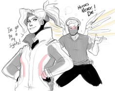 Mercy and 76 play dress up Overwatch Funny Comic, Overwatch Memes, Overwatch Fan Art, Solider 76, Overwatch Community, Mom Costumes, Goth Art, Team Fortress 2, Paladin