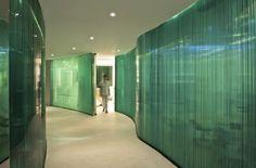 Beautiful Coke bottle green glass walls