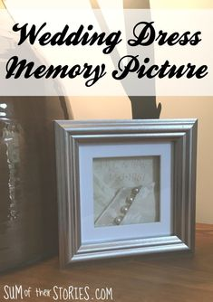 How to turn an old, vintage, family heirloom of a wedding dress into memory art work that you can enjoy all the time Wedding Dress Shadow Box, Wedding Dress Frame, Wedding Dress Quilt, Wedding Memory Box, Old Wedding Dresses, Wedding Dress Crafts, Making A Wedding Dress, Bohemian Wedding Dresses, Wedding Frames