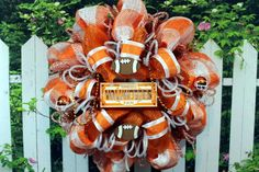 Love this Tennessee Volunteers wreath!