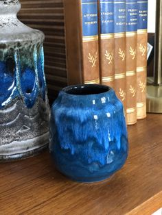 Excited to share this item from my shop: Small West German Pottery Vase blue numbered WGP west german pottery Vintage Numbers, Pottery Vase, Shades Of Blue, Color Pop, German, Etsy Shop, Deutsch, Colour Pop, German Language