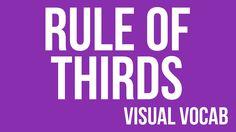 Rule of Thirds defined - From Goodbye-Art Academy Middle School Art, Art School, High School, 8th Grade Art, Composition Art, Art Basics, Art Terms, Art Worksheets, Art Curriculum