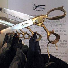 (A través de CASA REINAL) >>>> scissor hooks, by Denham at American Rag, LA #retaildetails
