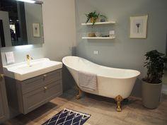 Kylpyhuone ihanan klassisella tassuammeella, Habitare 2017