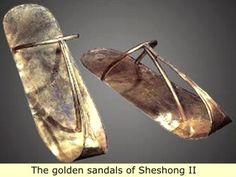 *EGYPT ~ The golden sandals of Sheshong II